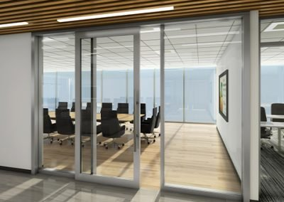 Interior office sliding doors